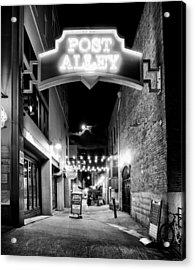 Post Alley Acrylic Print by Tanya Harrison