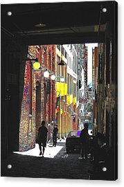 Post Alley Acrylic Print by Tim Allen