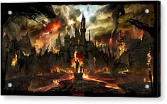 Post Apocalyptic Disneyland Acrylic Print by Alex Ruiz