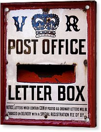 Post Box Acrylic Print by Jane Rix