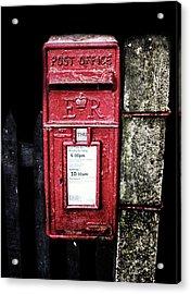 Post Box Acrylic Print by Martin Newman