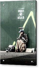 Post No Bills Acrylic Print by Marvin Spates