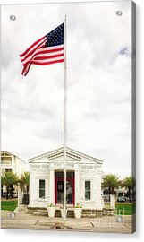 Post Office By The Sea Acrylic Print by Mel Steinhauer