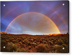 Post Tstorm Rainbow Acrylic Print by SB Sullivan