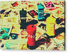 Postage Pop Art Acrylic Print by Jorgo Photography - Wall Art Gallery
