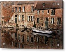 Postcard Canal II Acrylic Print by Joan Carroll