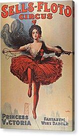 Poster Advertising The Sells Floto Circus, 1920  Acrylic Print