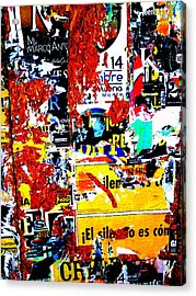 Poster Wall In Santiago  Acrylic Print