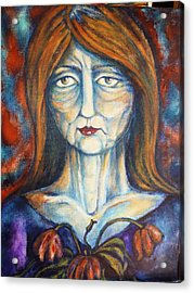 Acrylic Print featuring the painting Postmenopausal by Rae Chichilnitsky