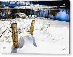 Posts In Winter Acrylic Print