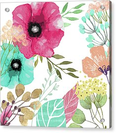 Posy Acrylic Print by Mindy Sommers