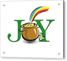 Pot Of Gold Joy Acrylic Print