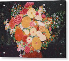 Pot With Flowers Acrylic Print by Biagio Civale