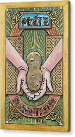 Potato Savior  Prata Slanaitheoir Acrylic Print by Pegeen  Shean