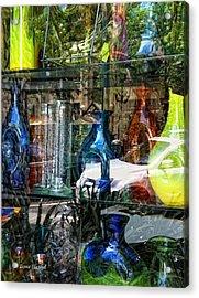 Potential Broken Glass Acrylic Print by Donna Blackhall