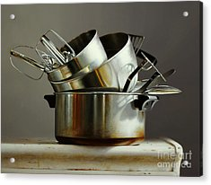 Pots And Pans Acrylic Print by Larry Preston