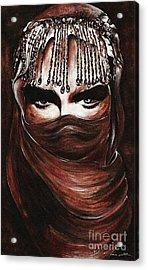 Hijab Acrylic Print by Qasir Z Khan