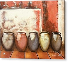 Pots In The Sun Acrylic Print