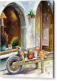 Pottery Cart Acrylic Print