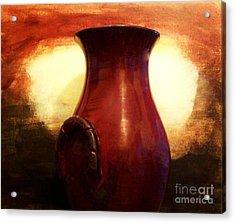 Pottery From Italy Acrylic Print by Marsha Heiken