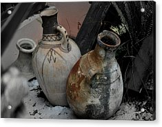 Acrylic Print featuring the photograph Pottery by Laura DAddona