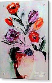 Pottery Plants Acrylic Print by Lisa Kaiser