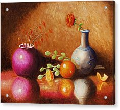 Acrylic Print featuring the painting Pottery Plus by Gene Gregory