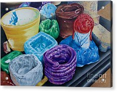 Pottery Princess Acrylic Print