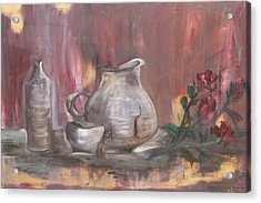 Acrylic Print featuring the painting Pottery by Sladjana Lazarevic