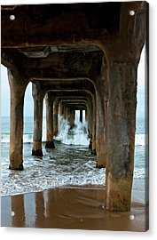 Pounded Pier Acrylic Print