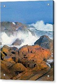 Pounding Surf Acrylic Print