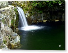 Pour Off Acrylic Print by Marty Koch