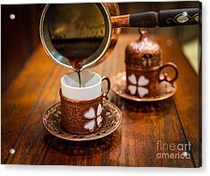 Poured Turkish Coffee Acrylic Print