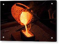 Pouring A 90oz Gold Bar Acrylic Print