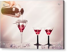 Pouring A Cocktail Acrylic Print