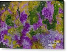 Acrylic Print featuring the painting Pouring Flowers by Vicki  Housel