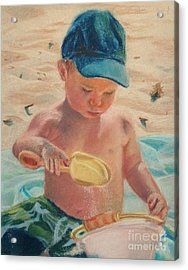 Pouring Sand Acrylic Print by Lisa Pope