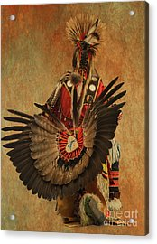 Acrylic Print featuring the mixed media Pow Wow 2 by Jim  Hatch