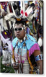 Pow Wow Beauty Of The Past 14 Acrylic Print by Bob Christopher