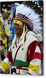 Pow Wow Beauty Of The Past 15 Acrylic Print by Bob Christopher