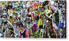 Pow Wow Beauty Of The Past 4 Acrylic Print by Bob Christopher