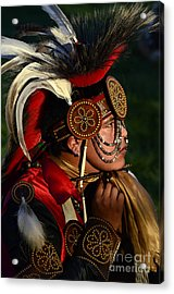 Pow Wow Beauty Of The Past 6 Acrylic Print by Bob Christopher