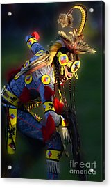 Pow Wow Beauty Of The Past 7 Acrylic Print by Bob Christopher