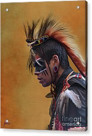 Acrylic Print featuring the mixed media Pow Wow by Jim  Hatch