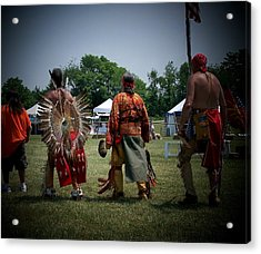 Pow Wow Acrylic Print by Vijay Sharon Govender