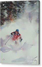 Powder Acrylic Print by Elizabeth Carr