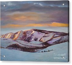 Powder Mountain Acrylic Print by Marlene Book