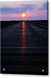 Powder Point Bridge  Acrylic Print by Joanne Brown