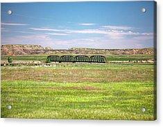 Powder River Bridge Acrylic Print by Todd Klassy