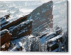 Powdered Red Rocks Acrylic Print